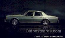 aut100272 - Caprice classic 4 door sedan Automotive, Car Vehicle, Old, Vintage, Antique Postcard Post Card