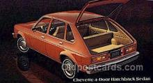 aut100274 - Chevette 4 door hatchback sedan Automotive, Car Vehicle, Old, Vintage, Antique Postcard Post Card