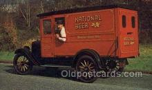 aut100284 - National beers antique truck 1924 Automotive, Car Vehicle, Old, Vintage, Antique Postcard Post Card