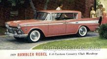 aut100289 - 1959 rambler rebel v8 custom club hardtop Automotive, Car Vehicle, Old, Vintage, Antique Postcard Post Card