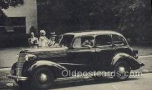 aut100291 - 1938 chevrolet four door sedan Automotive, Car Vehicle, Old, Vintage, Antique Postcard Post Card