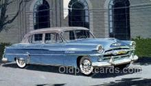 aut100293 - 1954 plymouth belvedere four door sedan Automotive, Car Vehicle, Old, Vintage, Antique Postcard Post Card
