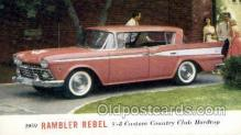 aut100295 - 1959 rambler rebel v8 custom club hardtop Automotive, Car Vehicle, Old, Vintage, Antique Postcard Post Card