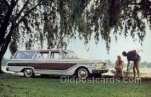 aut100300 - 1963 ford fairlane squire wagon Automotive, Car Vehicle, Old, Vintage, Antique Postcard Post Card
