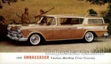 aut100302 - 1959 ambassador custom hardtop cross country Automotive, Car Vehicle, Old, Vintage, Antique Postcard Post Card