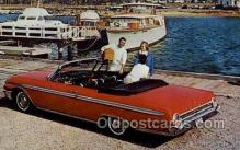 aut100305 - galaxie 500 sunliner in rangoon red Automotive, Car Vehicle, Old, Vintage, Antique Postcard Post Card