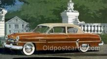 aut100308 - 1954 plymouth savoy club sedan Automotive, Car Vehicle, Old, Vintage, Antique Postcard Post Card