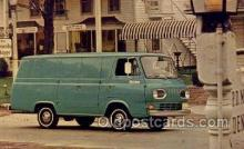 aut100313 - 1967 econoline van Automotive, Car Vehicle, Old, Vintage, Antique Postcard Post Card