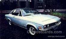 aut100314 - 1973 opel manta luxus Automotive, Car Vehicle, Old, Vintage, Antique Postcard Post Card