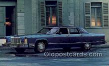 aut100325 - 1975 lincoln continental town car Automotive, Car Vehicle, Old, Vintage, Antique Postcard Post Card