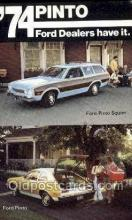 aut100327 - 1974 ford pinto and pinto squire Automotive, Car Vehicle, Old, Vintage, Antique Postcard Post Card