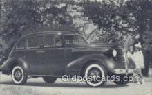 aut100332 - 1937 Pontiac 6 Four Door Sedan Auto, Postcard, Automobile Post Card Old Vintage Antique