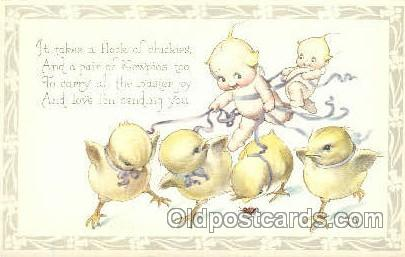 Artist Rosie ONeill, Frog, Chicken, Kewpie Postcard Post Card