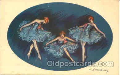 Artist Signed Adelina Zandrino (Italy) Postcard Post Card