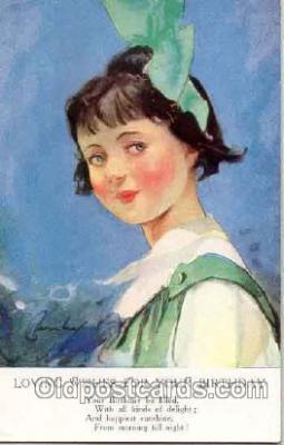 art004001 - Artist L. Barribal (Great Britain) Postcard Post Card