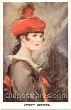 art004002 - Artist L. Barribal (Great Britian) Postcard Post Card