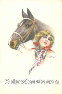 Artist Aurelio Bertiglia (Italy) Postcard Post Card