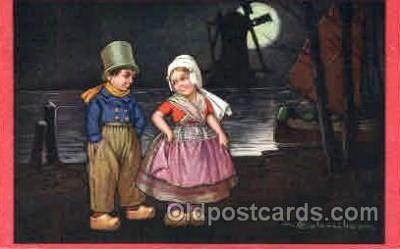 art011154 - Artist E. Colombo Postcard Post Card