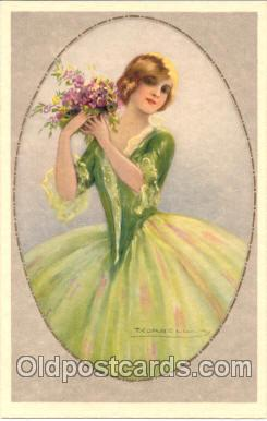 art012067 - Artist Tito Corbella (Italy) Postcard Post Card