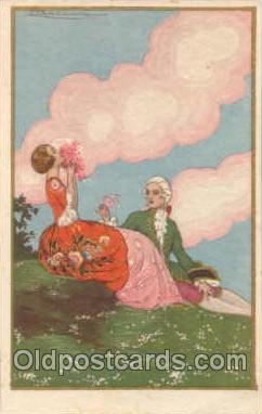 art012088 - Artist Tito Corbella (Italy) Postcard Post Card
