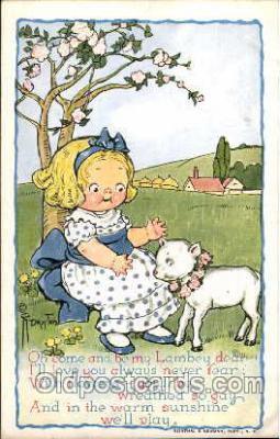 art014031 - Grace Drayton; Wiederseim Post Card, Lamb