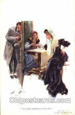 art021240 - You Will Marry a Dark Man Artist Harrison Fisher Postcard Post Card