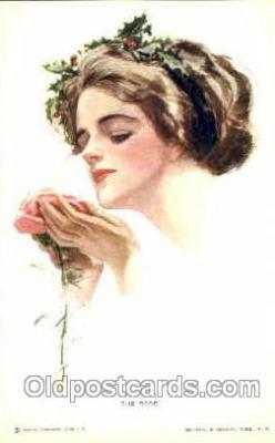 art021247 - No.181, The Rose Artist Harrison Fisher Postcard Post Card
