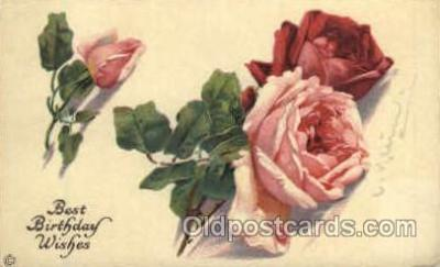 Artist Catherine Klein (Germany) Flower Postcard Post Card