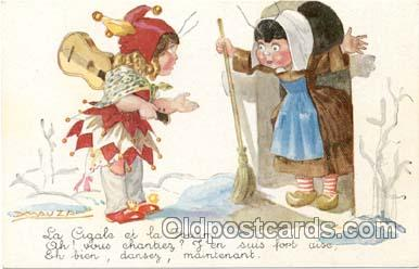Artist L.A. Mauzan (Italy) Postcard Post Card