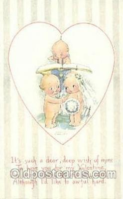 art053038 - Artist Rosie O'Neill, Kewpie Postcard Post Card