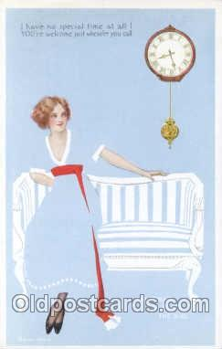 Artist Coles Phillips Look alike Fadeaway Postcard Post Card