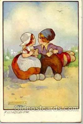 Artist Agnes Richardson (Great Britain) Postcard Post Card