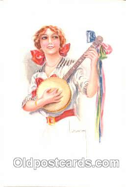 Artist Signed Lottie Usable (Italy) Postcard Post Card