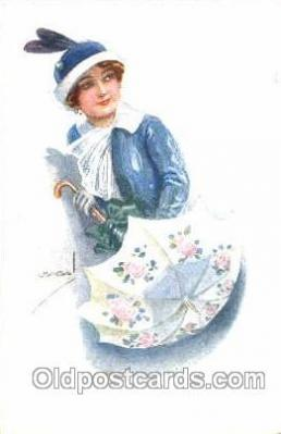 series 305/6 Artist Lottie Usabel (Italian) Postcard Post Card