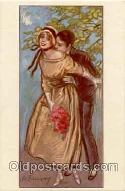 art090034 - Artist Signed Adelina Zandrino (Italy) Postcard Post Card