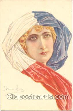 art093003 - Artist Signed Bourillon (Italy) Postcard Post Card