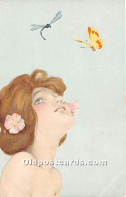 Artist Signed Raphael Kirchner Post Card