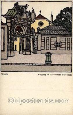 art100236 - Artist Schwetz Card 299 Wiener Werkstaette  Wien