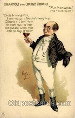 art100354 - Artist Kyd, Charles Dickens Character Postcard Post Card