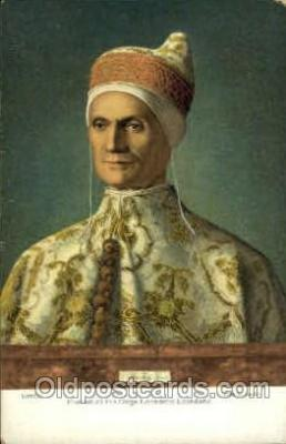 Igannes Bellinvs Portrait of the Doge Leonardo Loredano Artist Signed Post Card Post Card