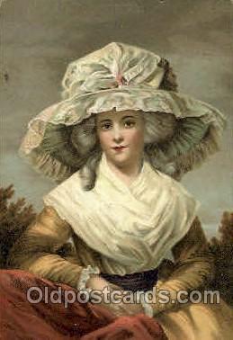 George Romney Bildnis der Mrs. Drummond Smith Artist Signed Post Card Post Card