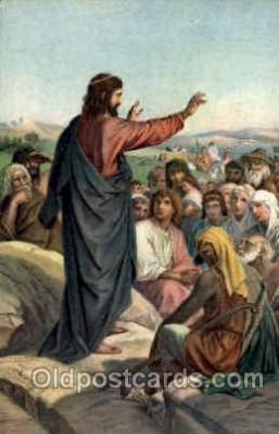 J.M. Heinrich Hofmann Sermon on the Mount Artist Signed Post Card Post Card