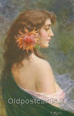 art136011 - Artist Signed E. Meier (Germany) Postcard Post Card