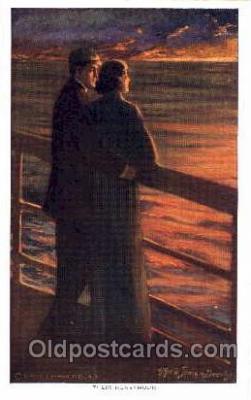 art171001 - Artist Alfred Dewey, (USA) Postcard Post Card