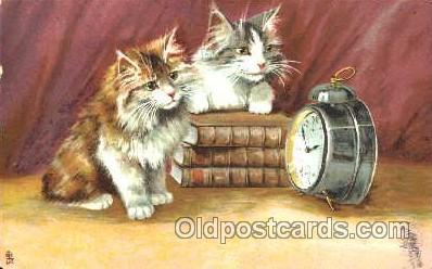 art175015 - Artist Maurice Boulanger (France) Comic Cat, Cats, Postcard, Post Card