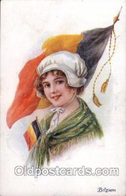 Belgium,   Artist Ethal C. Brisley (United Kingdom Artist) Postcard Post Card