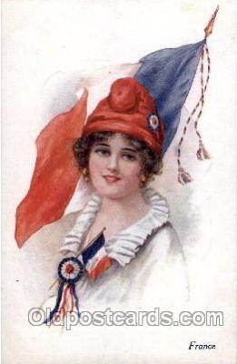 France,  Artist Ethal C. Brisley (United Kingdom Artist) Postcard Post Card