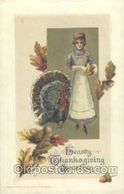 art201106 - Artist Schmucker Thanksgiving Greeting Postcard Post Card