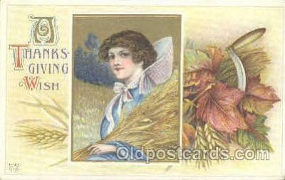 Artist Schmucker Thanksgiving Greeting Postcard Post Card