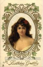 art000053 - Artist Asti Bithday series, felt padding in middle Postcard Post Card